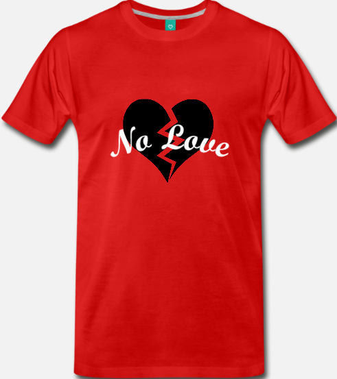Image of NOLOVE Broken Heart (Red)