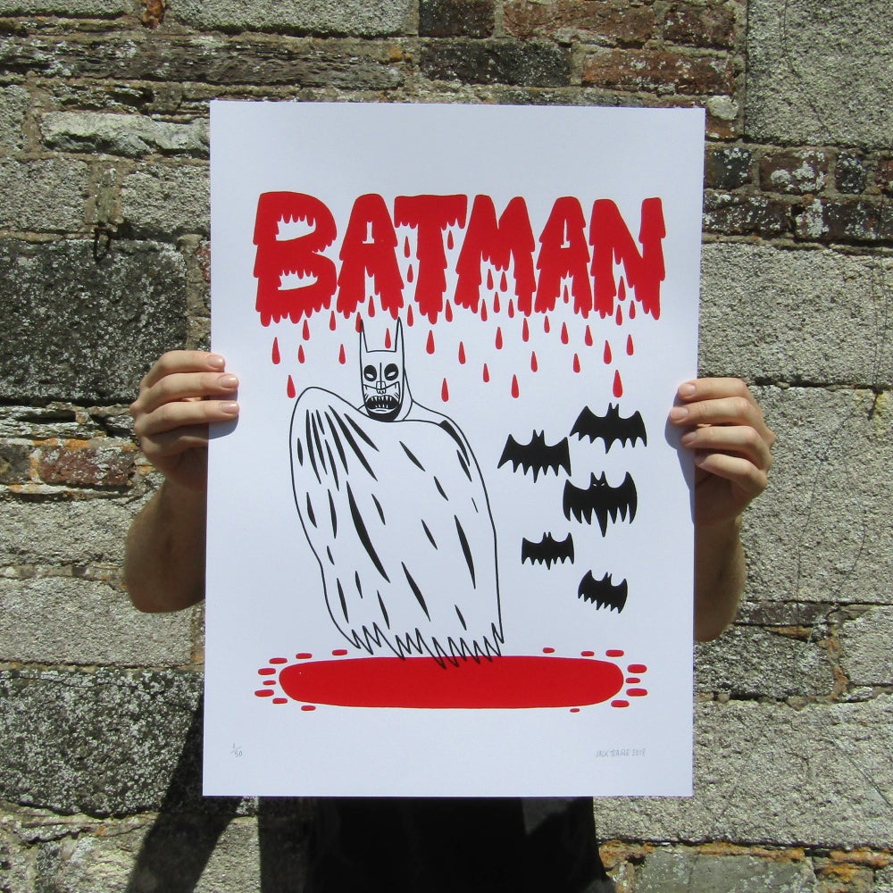 Image of VAMPIRE BATMAN A2 Screen Print