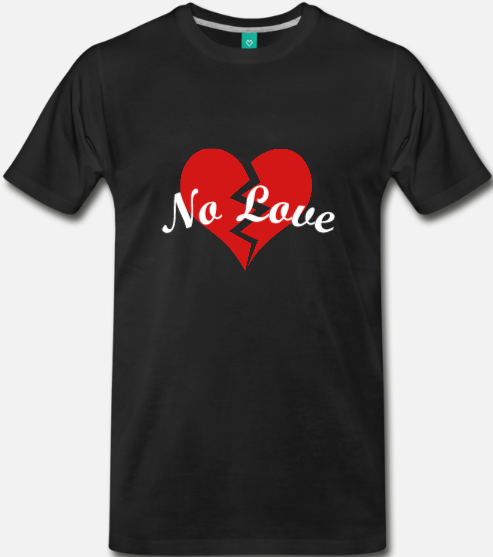 Image of NO LOVE Broken Heart (Black)
