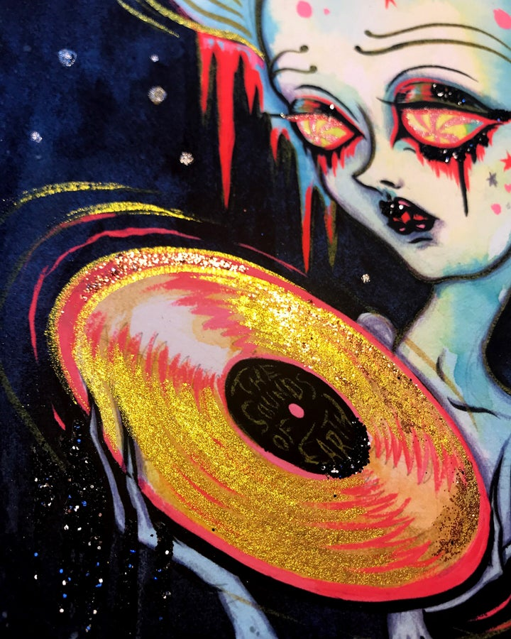 """Image of """"The Sounds of Earth"""" limited edition print"""