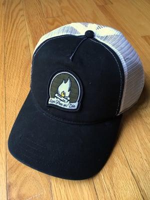Image of Black/White Campfire Logo Trucker Hat