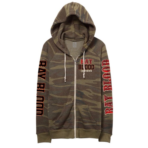 Image of Ladies Frisco Zip Up sweater (Camo)