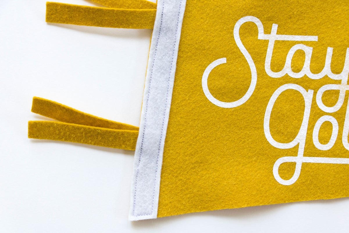 """Image of Stay Golden 18"""" Pennant"""