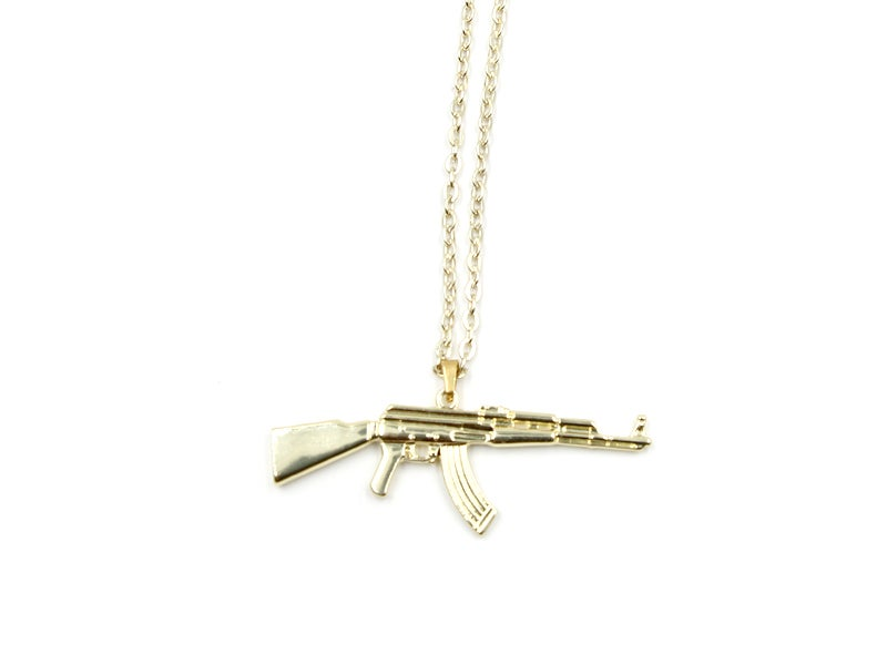 Image of Ak-47 Pendant Necklace