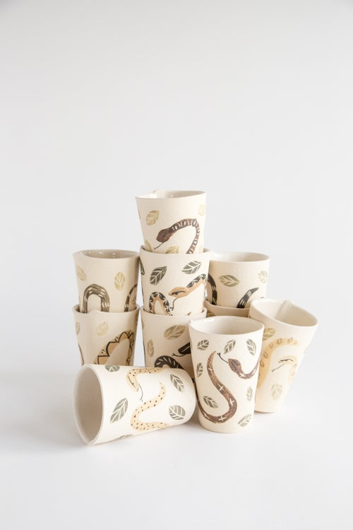 Image of Snake in the Garden Tumblers