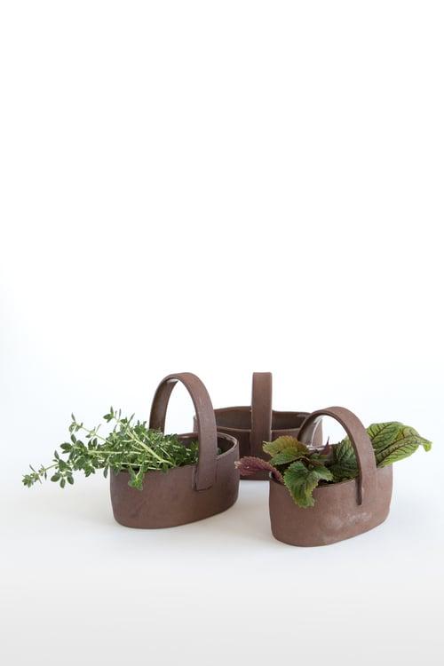 Image of Dark Brown Clay Baskets