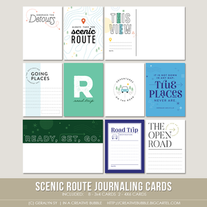 Image of Scenic Route Journaling Cards (Digital)
