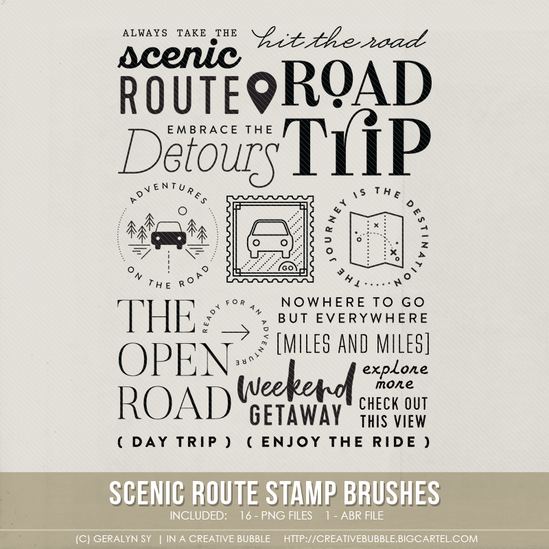 Image of Scenic Route Stamp Brushes (Digital)