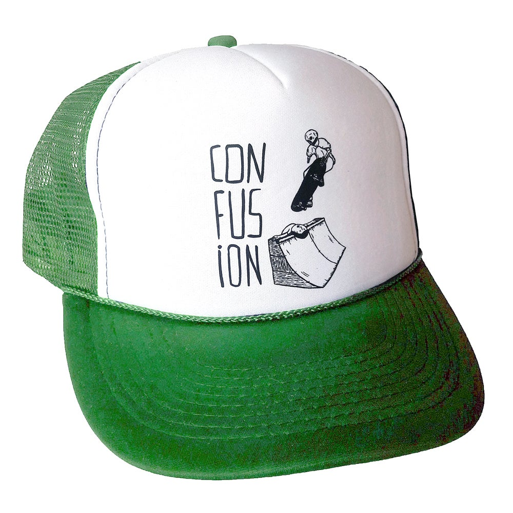 Image of Confusion - Sacrifice - mesh cap (white/green)