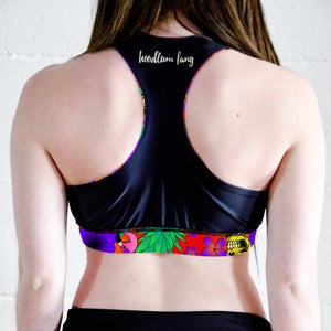Image of Pineapple Skulls Reversible Sports Crop Top