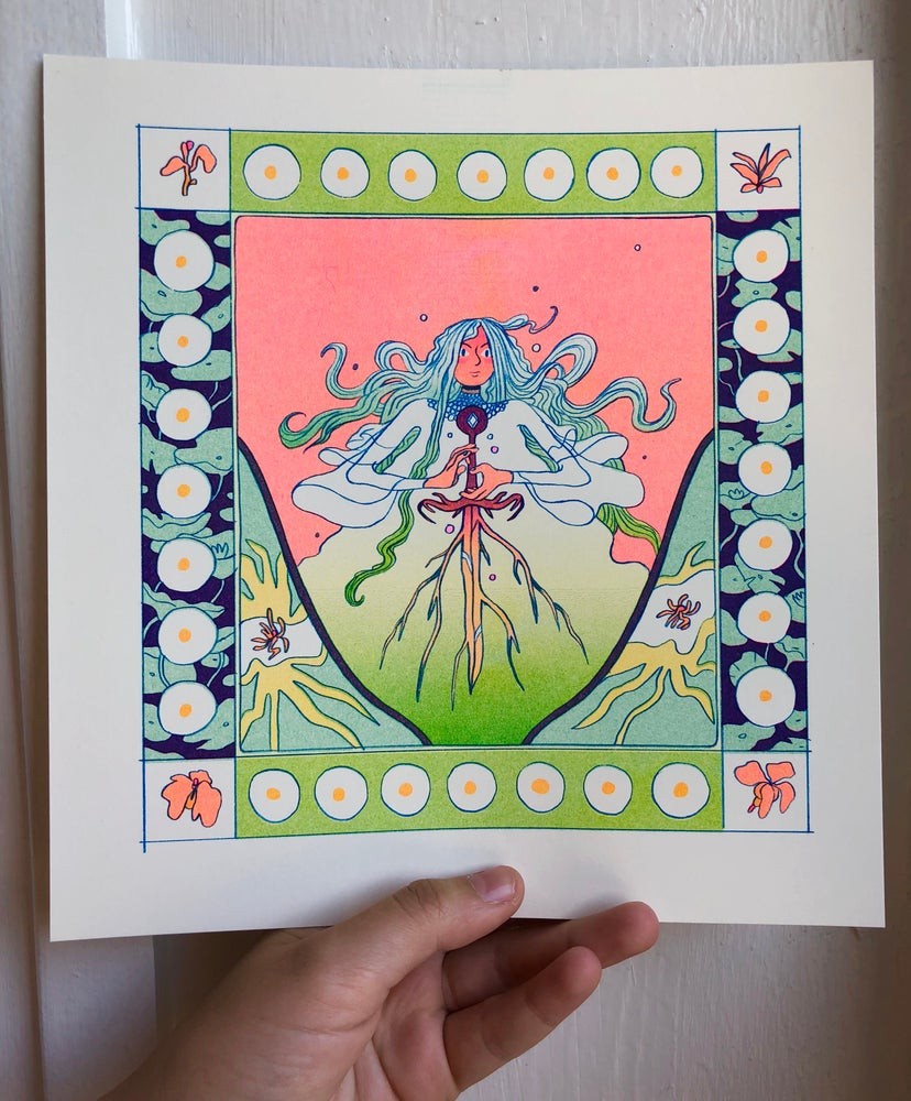 Image of Water Flower Riso Print