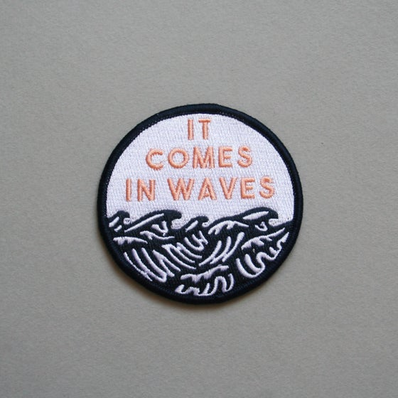 Image of 'Waves' Embroidered Patch