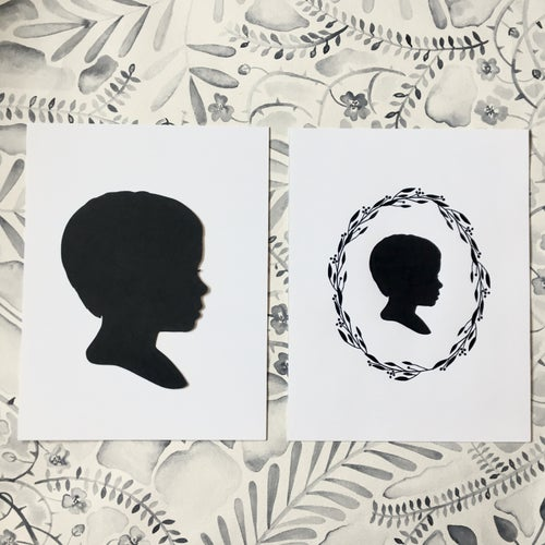 Image of Extra Hand Cut or Print of Your Silhouette