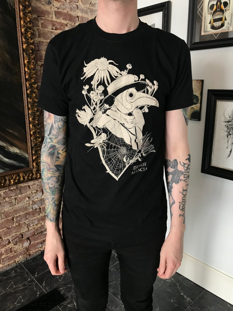 Image of 'Plague Doctor' Short Sleeve Shirt by Desiree Mancia