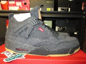 "Image of Air Jordan IV (4) Retro NRG ""Levi's - Black"""