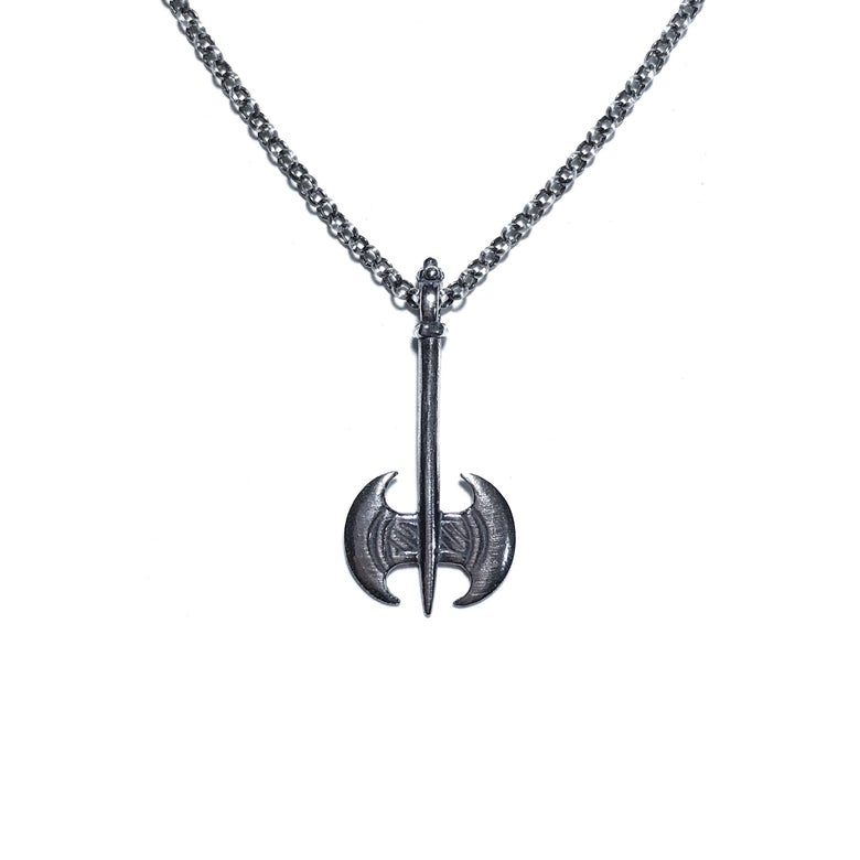 Image of Mini Labrys necklace in sterling silver or 14k gold