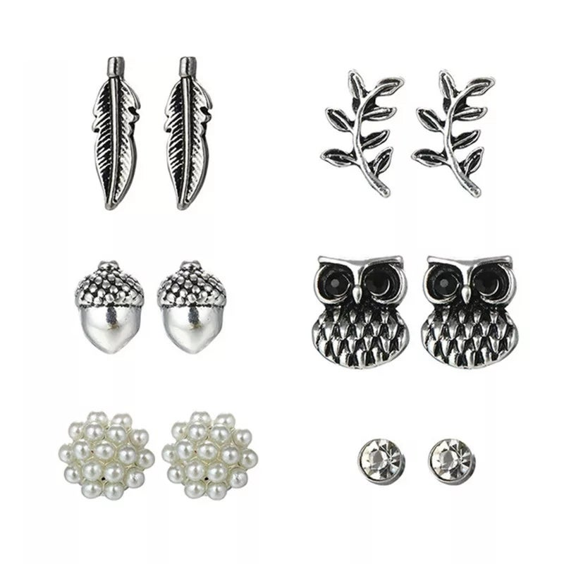 Image of Owl Stud Set