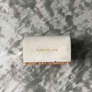 Image of FUCK MY LIFE concrete namecard holder