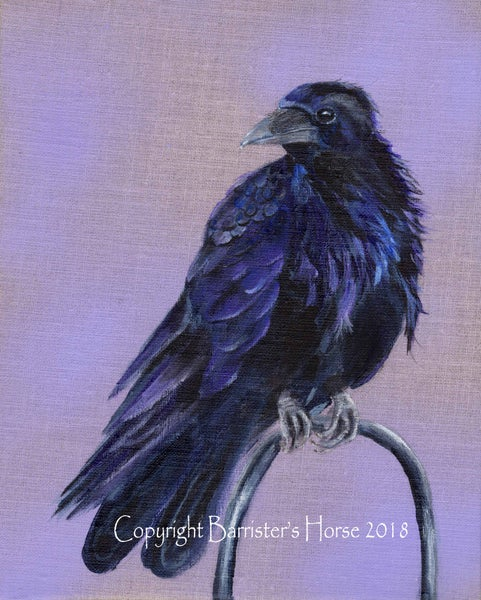 Image of RAVEN, ORIGINAL ACRYLIC ON LINEN PAINTING