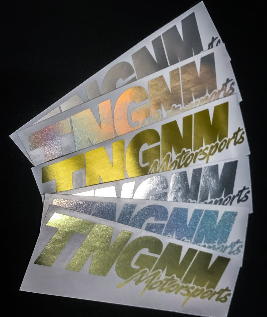 Image of TNGNM motorsports decal 10x4