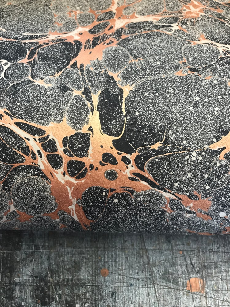 Image of Marbled Paper Copper 'Space'