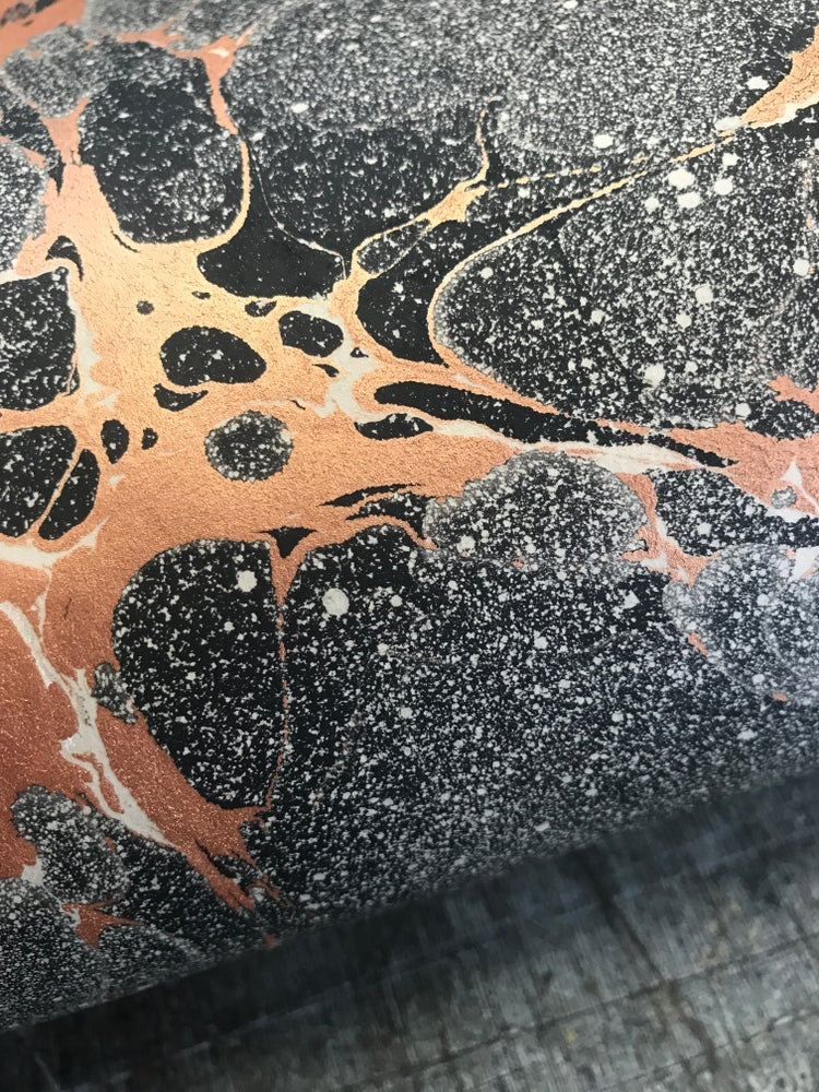 Image of *NEW* Marbled Paper Copper 'Space'