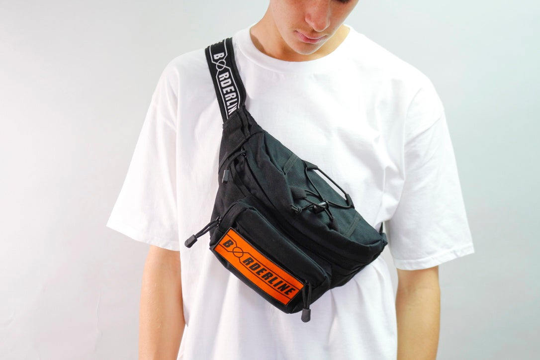 Image of Utility red/yellow/orange patch bumbag/torso bag