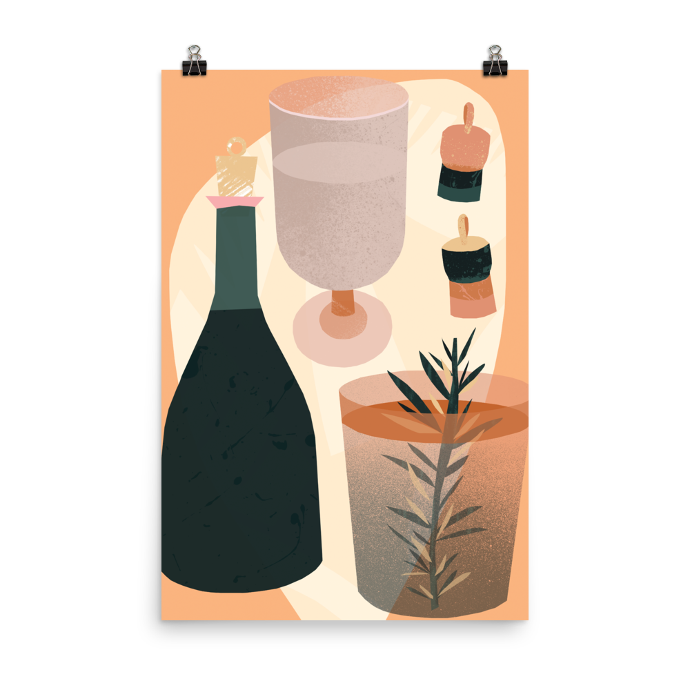 Image of Bottle and Corks PRINT
