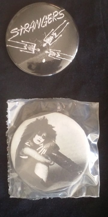 Image of big buttons Siouxsie and Strangers