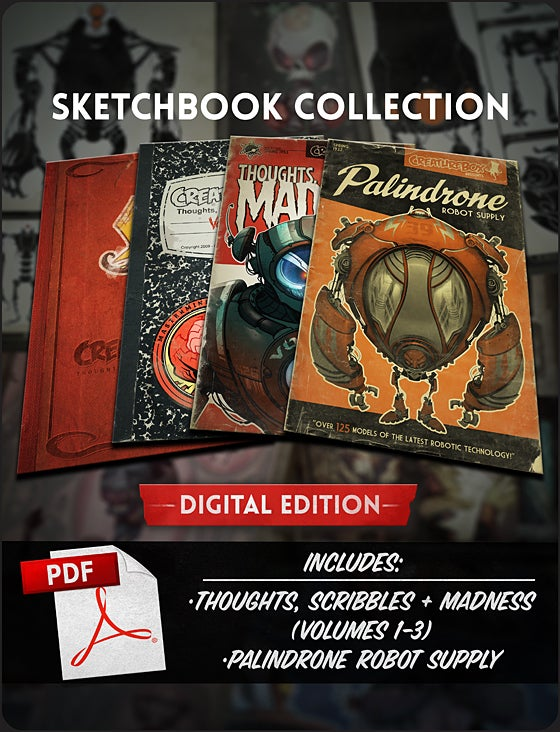 Image of CreatureBox Sketchbook Collection: Digital Edition!