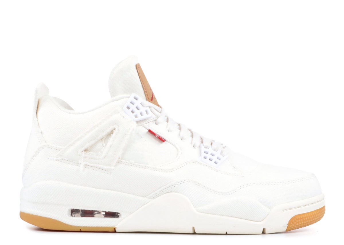 "Image of AIR JORDAN 4 RETRO LEVIS NRG ""LEVI'S"" White"