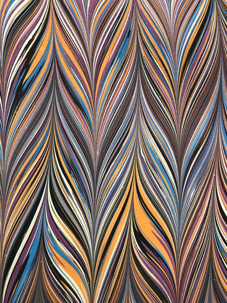 Image of Marbled Paper #21 Pastel Chevron design