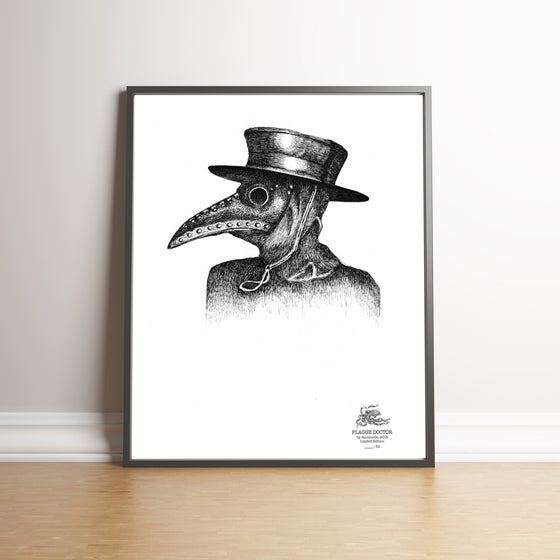 Image of PLAGUE DOCTOR limited edition handsigned print