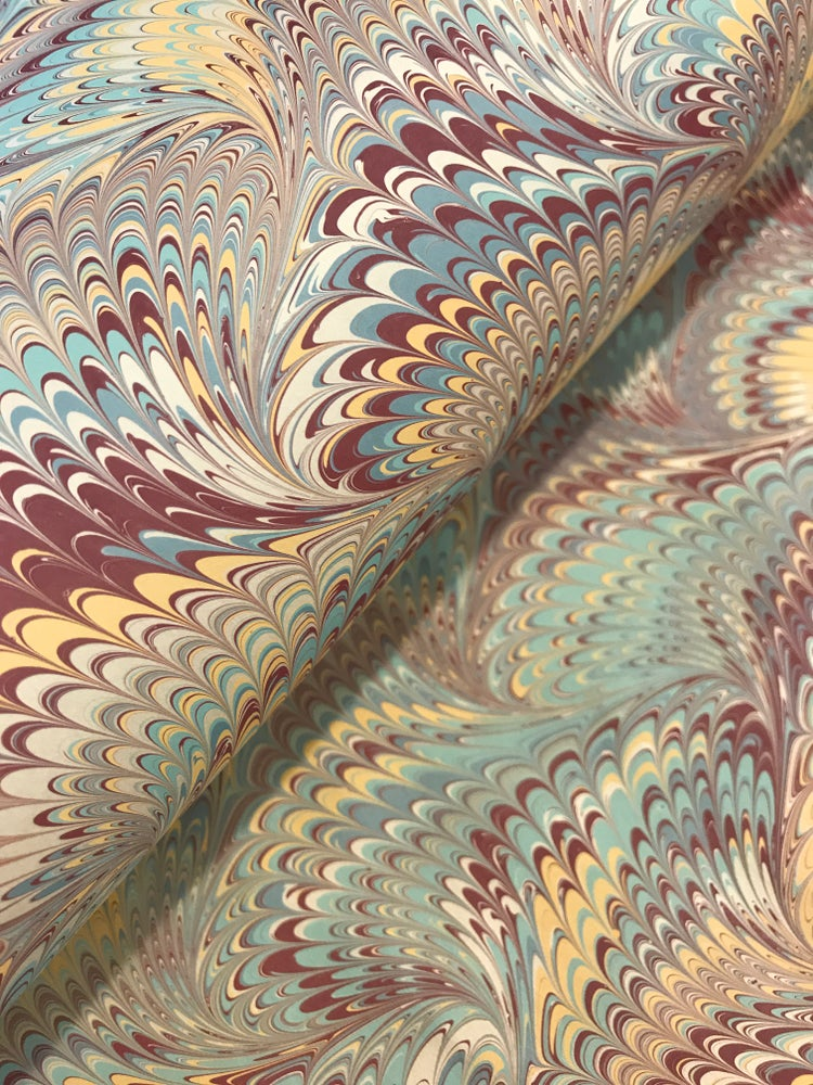 Image of Marbled Paper #54 large nonpareil wave
