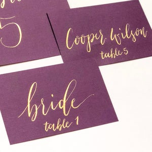 Image of Calligraphy place cards