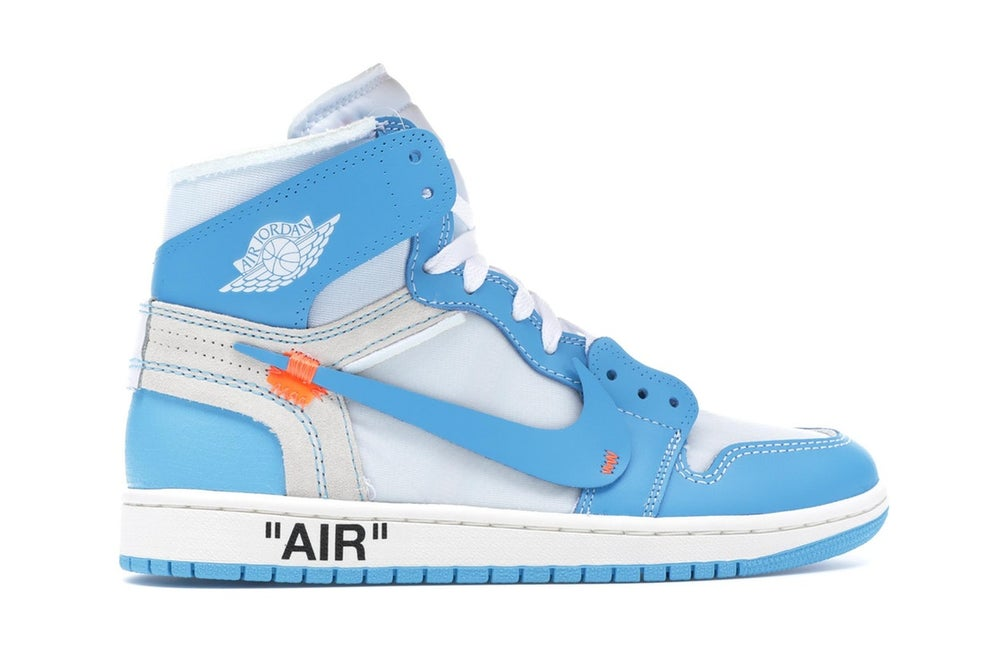 Image of Jordan 1 Retro High Off White UNC University Blue