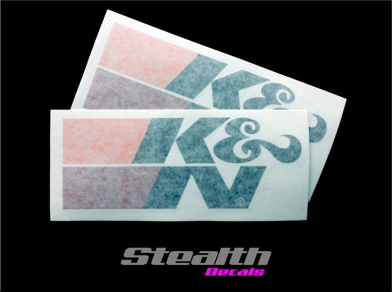 Image of 2x K&N High Temp Stickers Large