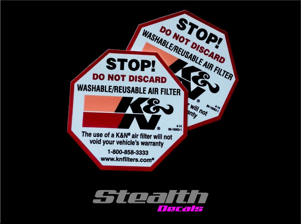 Image of 2x K&N Filter STOP Stickers