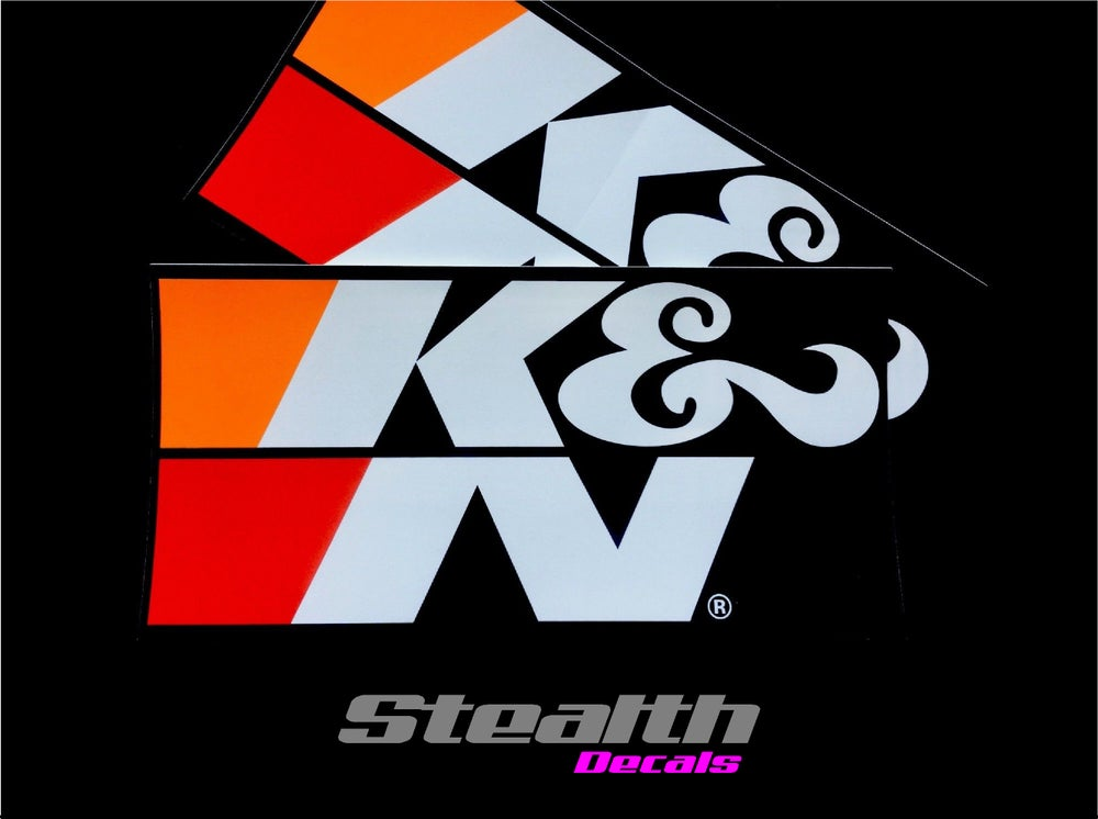 Image of 2x Medium K&N Stickers