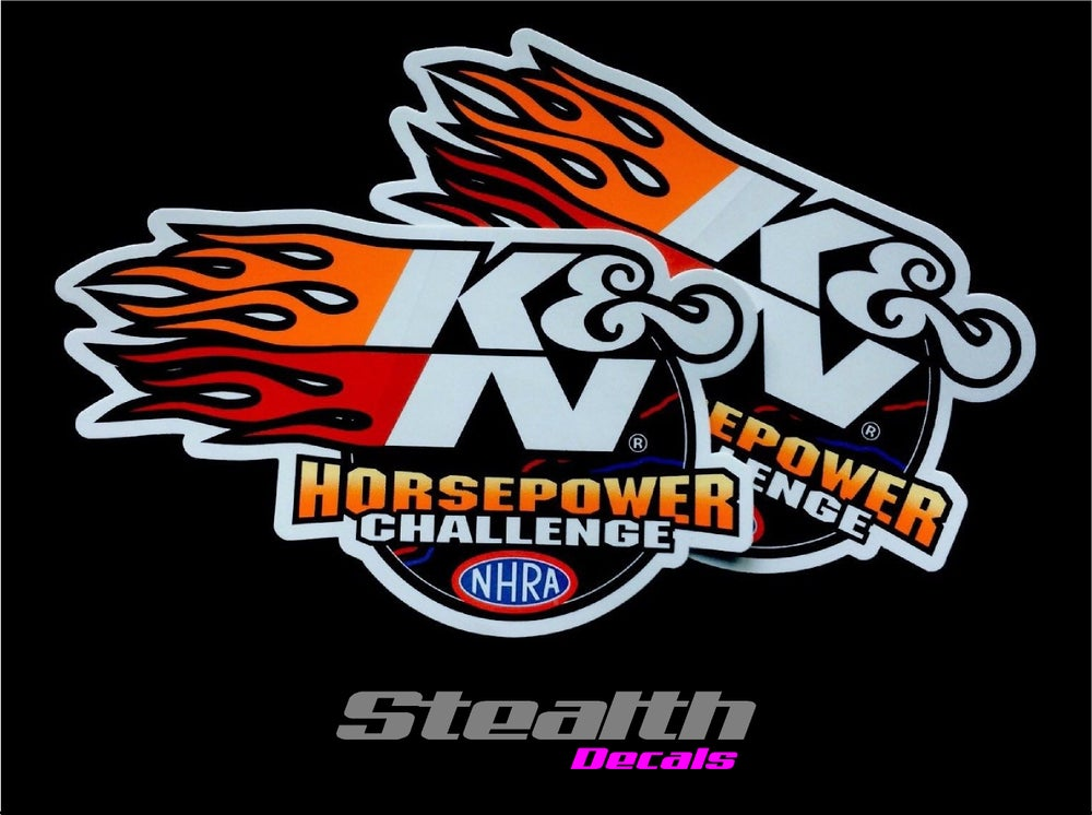 Image of 2x K&N Horsepower Stickers