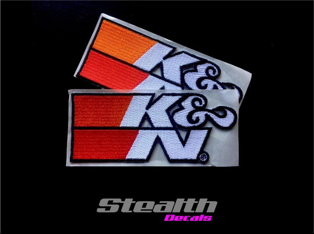 Image of 2x K&N Embroidered Stick on Patches