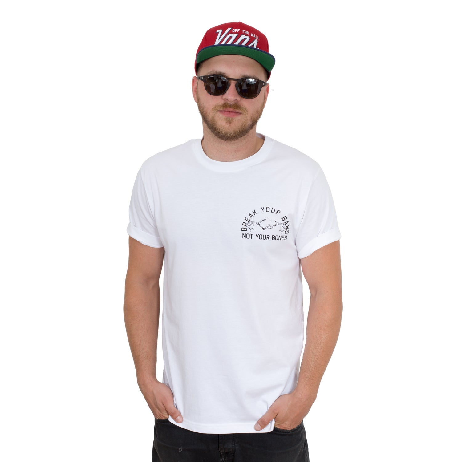 Image of Break Your Bars White T-shirt