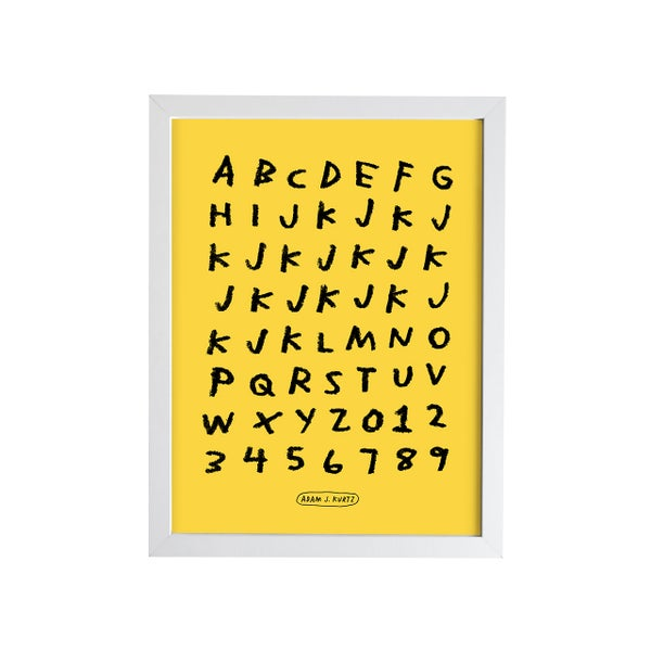 Image of Alphabet Print (More Colors)