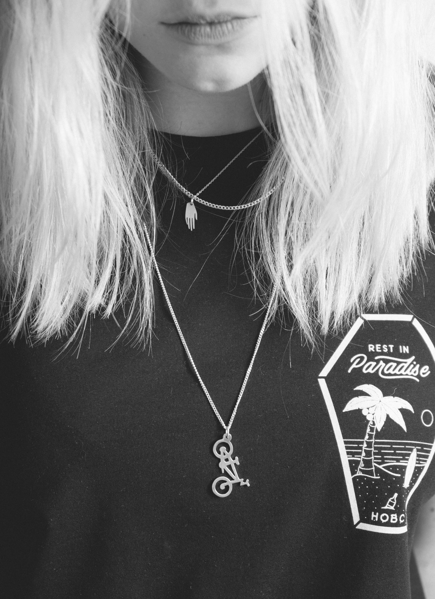 Image of Silver BMX Necklace