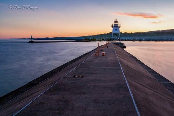 Image of Grand Marais Lighthouse at Sunset
