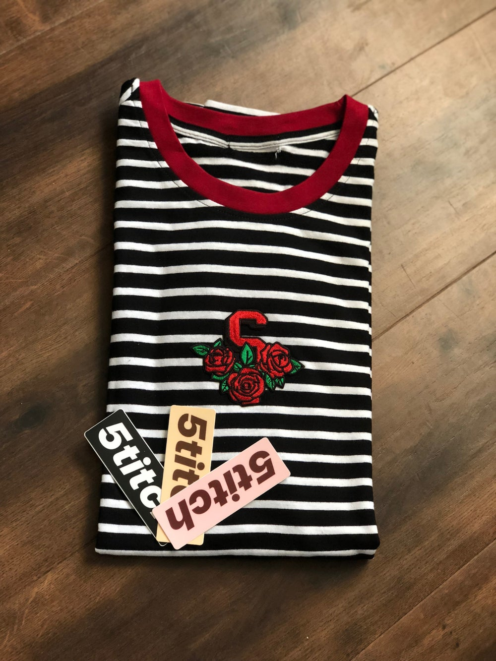 Image of Stripped Rosa Tee