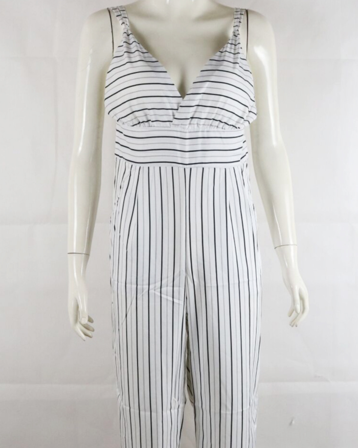 Image of Fashion sexy harness stripe jumpsuits
