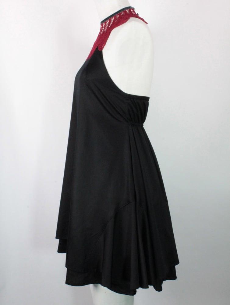 Image of Noir and Crimson Monique Dress