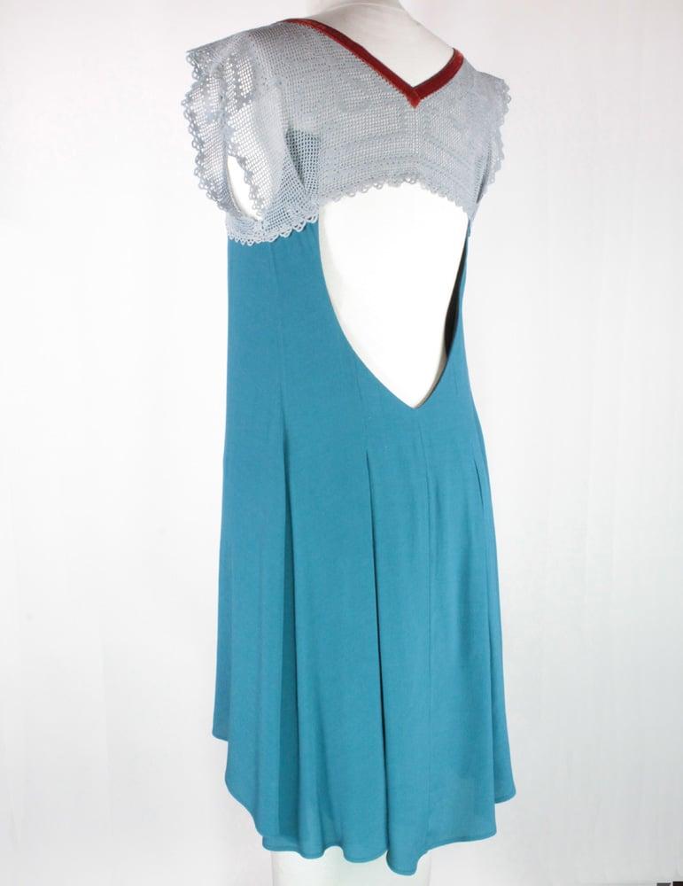 Image of Bluejay and Violet Smoke  Emma Dress