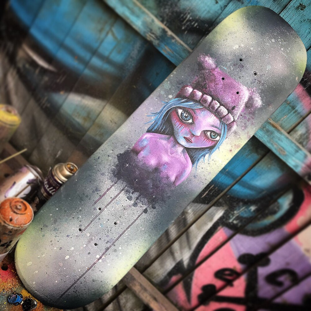 Image of I lost u hand painted skate deck